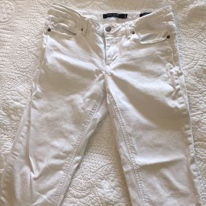 White jeans, size 8.